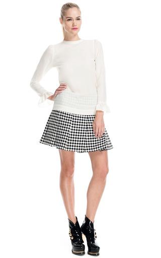 Medium moschino off white ruffle sleeve blouse