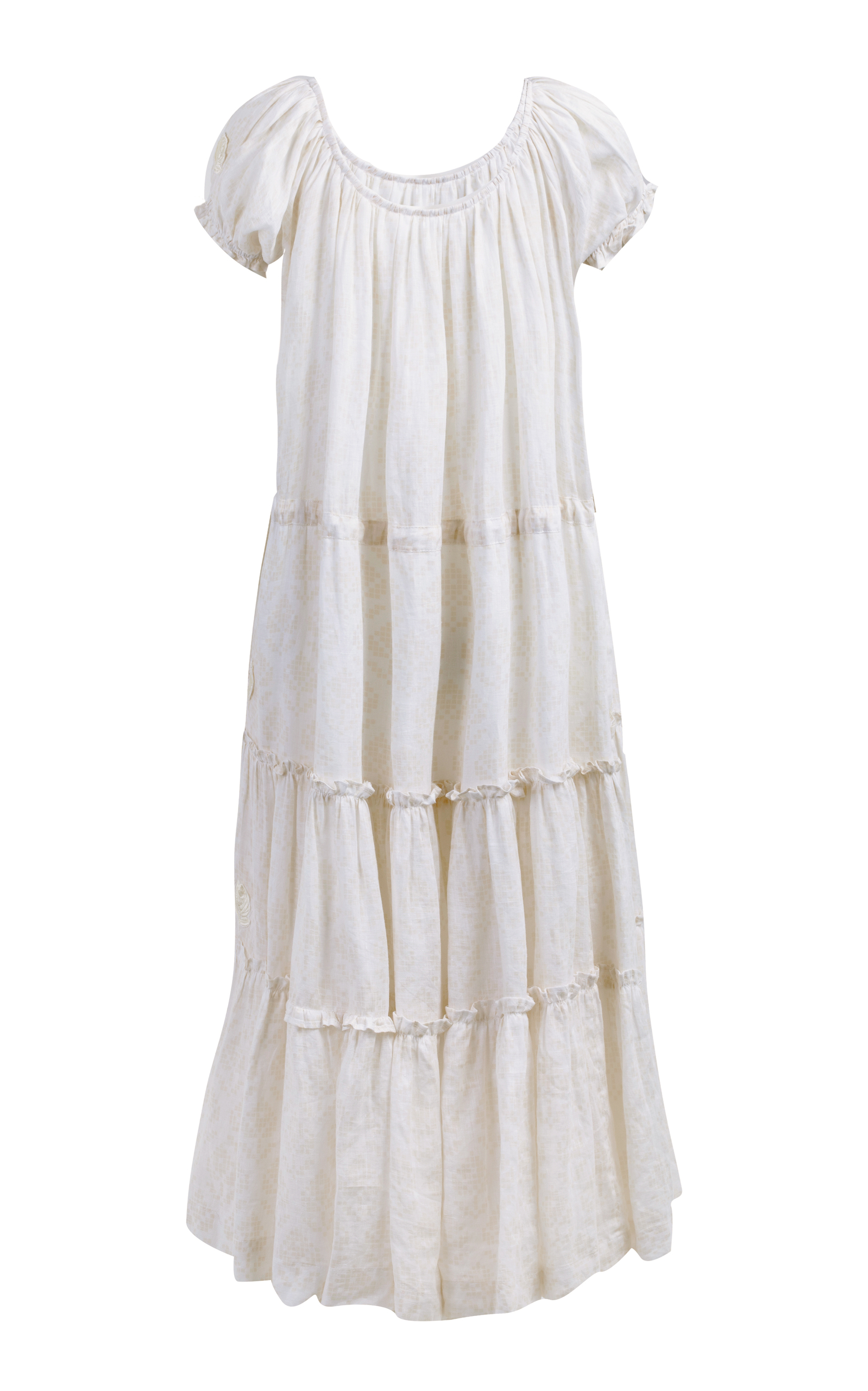 Embroidered peasant linen dress Innika Choo