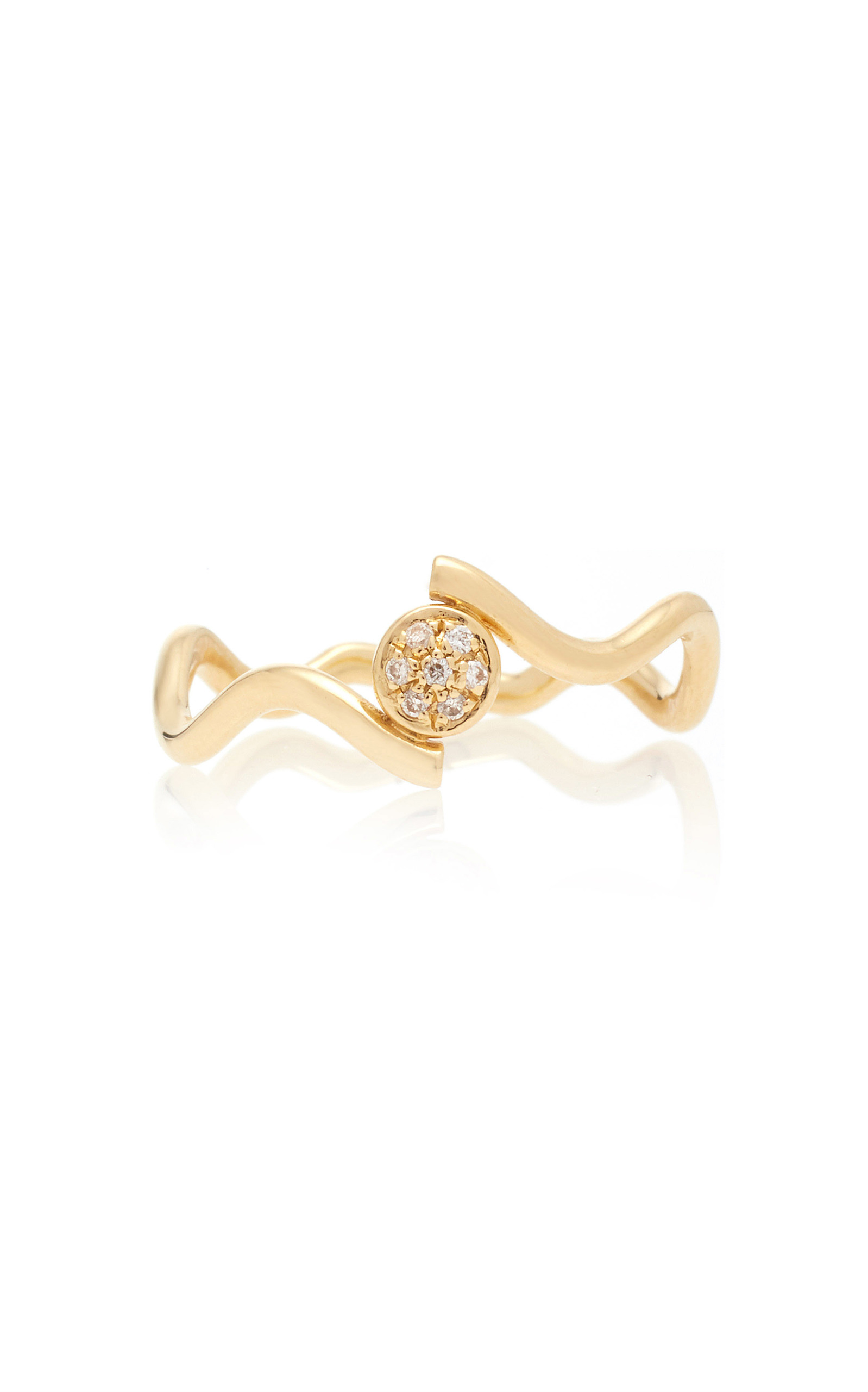 Gold and Diamond Wiggly Love Ring Sabine Getty REdC7