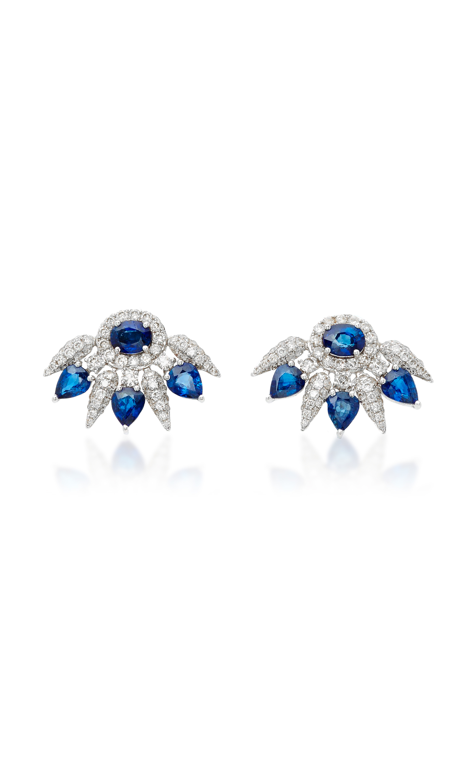 turquoise large earrings sapphire and operandi blue stud loading gold by ila collection moda