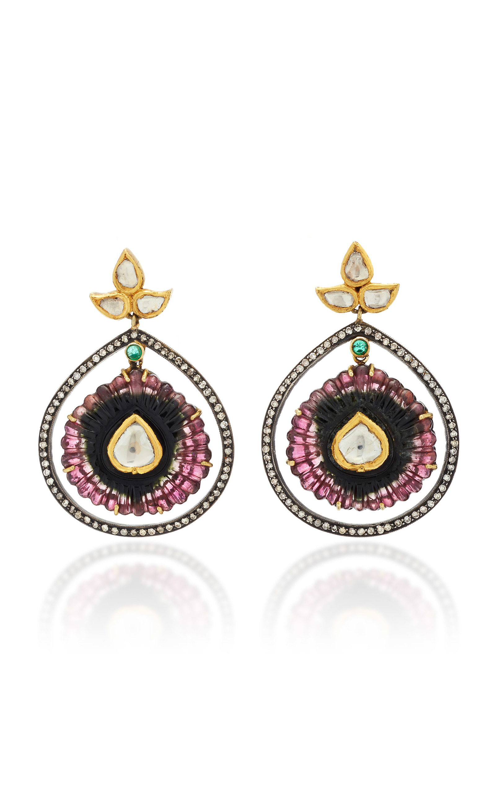buy plated drop multicoloured earrings amrapali tribe gold