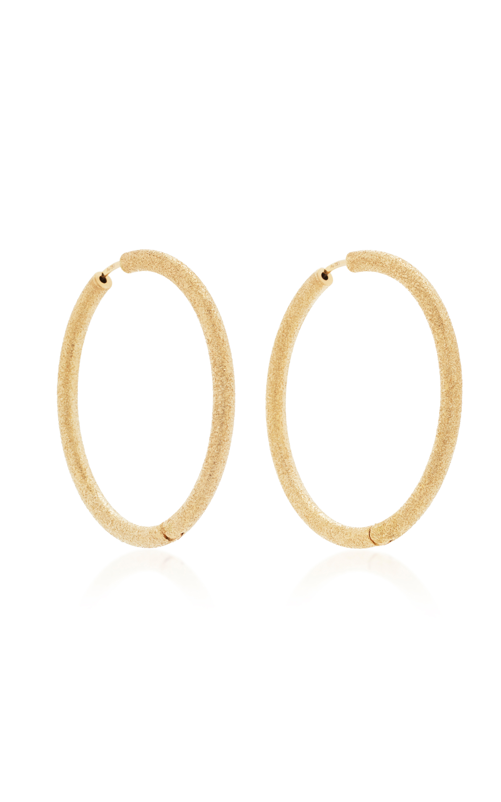 hoop memoire hood gold tw diamond earrings in white