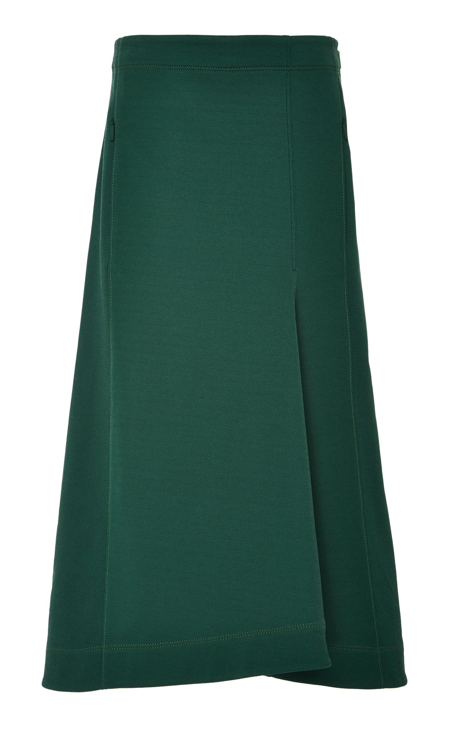 Tibi Cottons Sculpted Midi Skirt