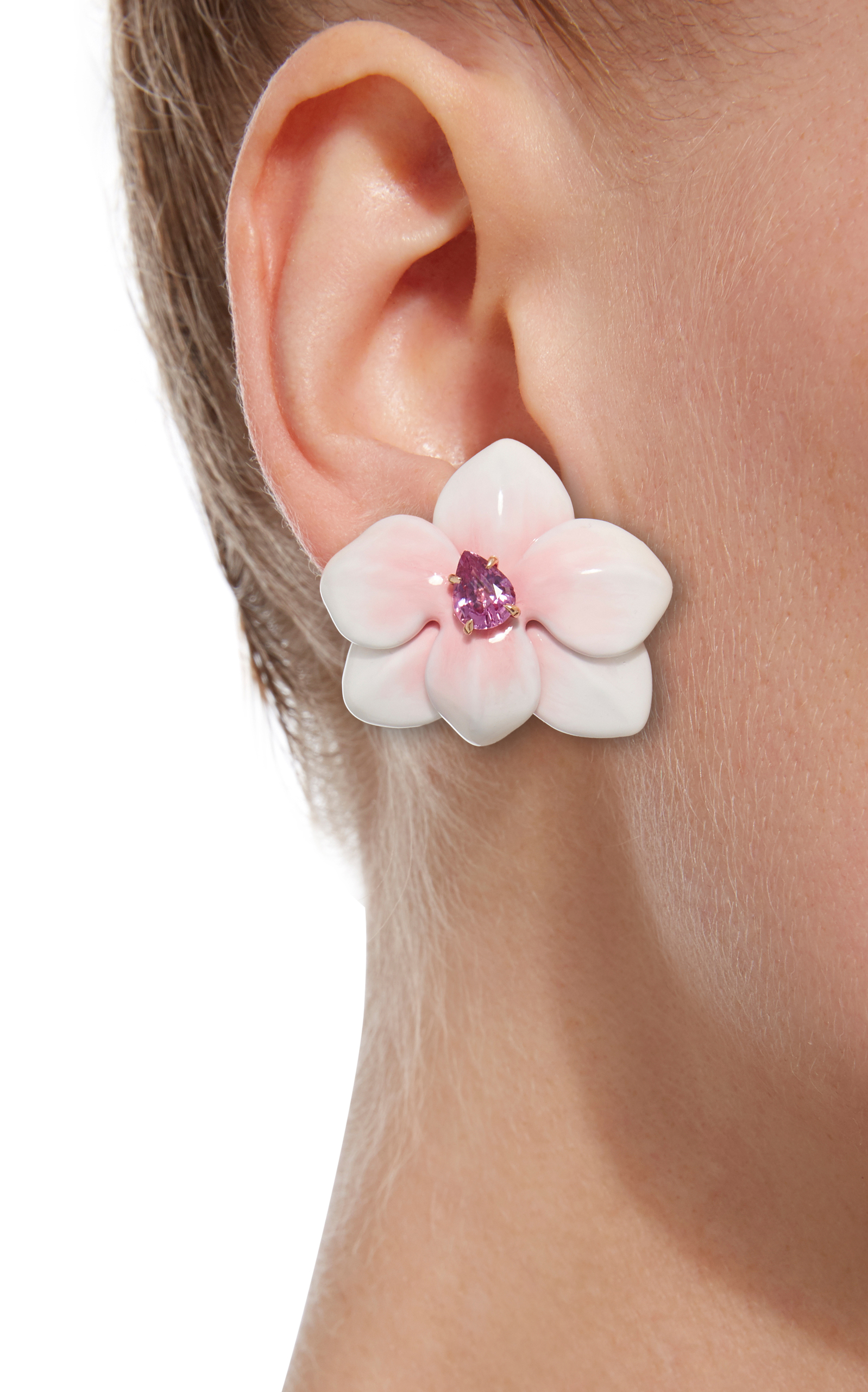 large lauren earrings flower studs conrad pin
