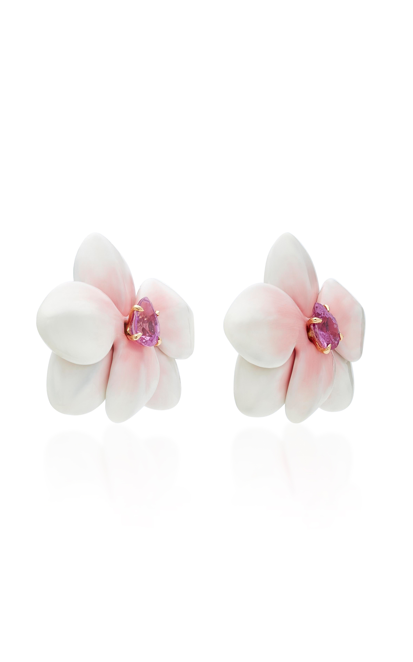by impatiens pink moda renta flower operandi oscar de drop large earrings la