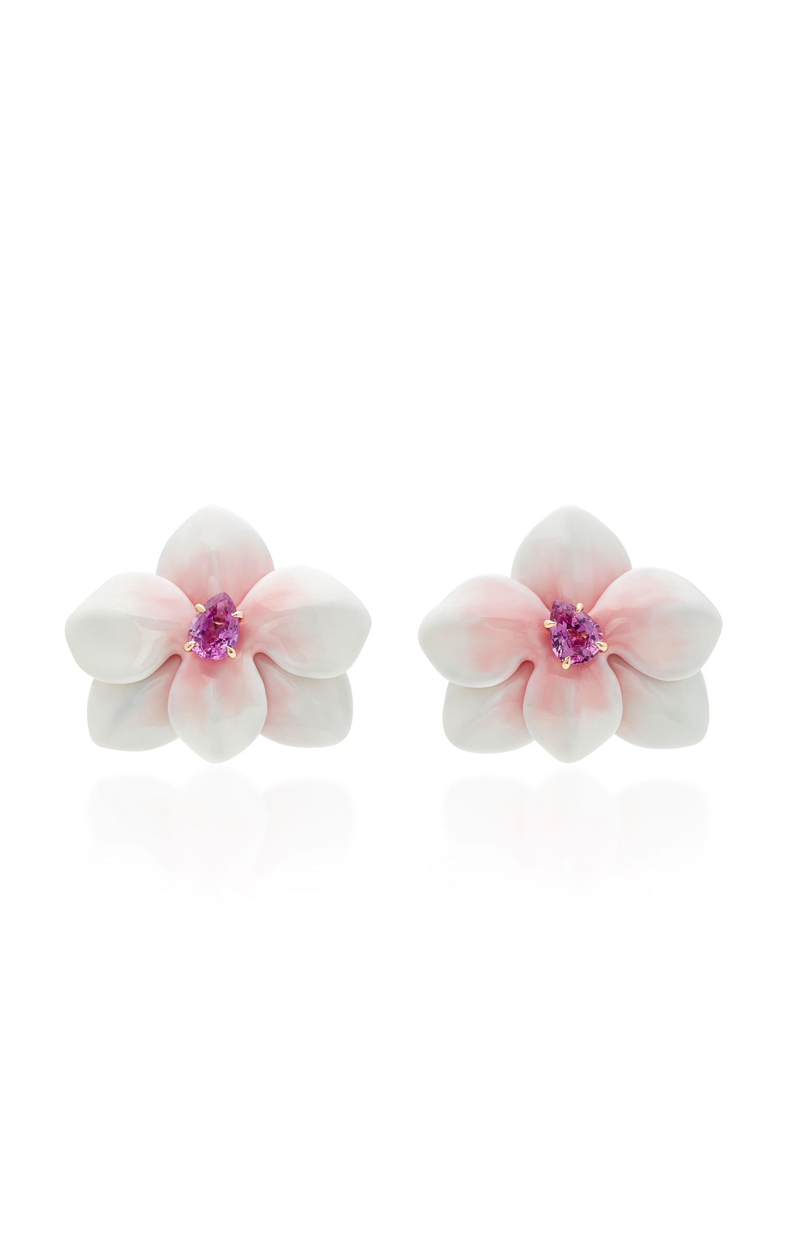 large from item stud white fashionable flower in pair exaggerated style jewelry women new crystals flowers resort seaside earrings for