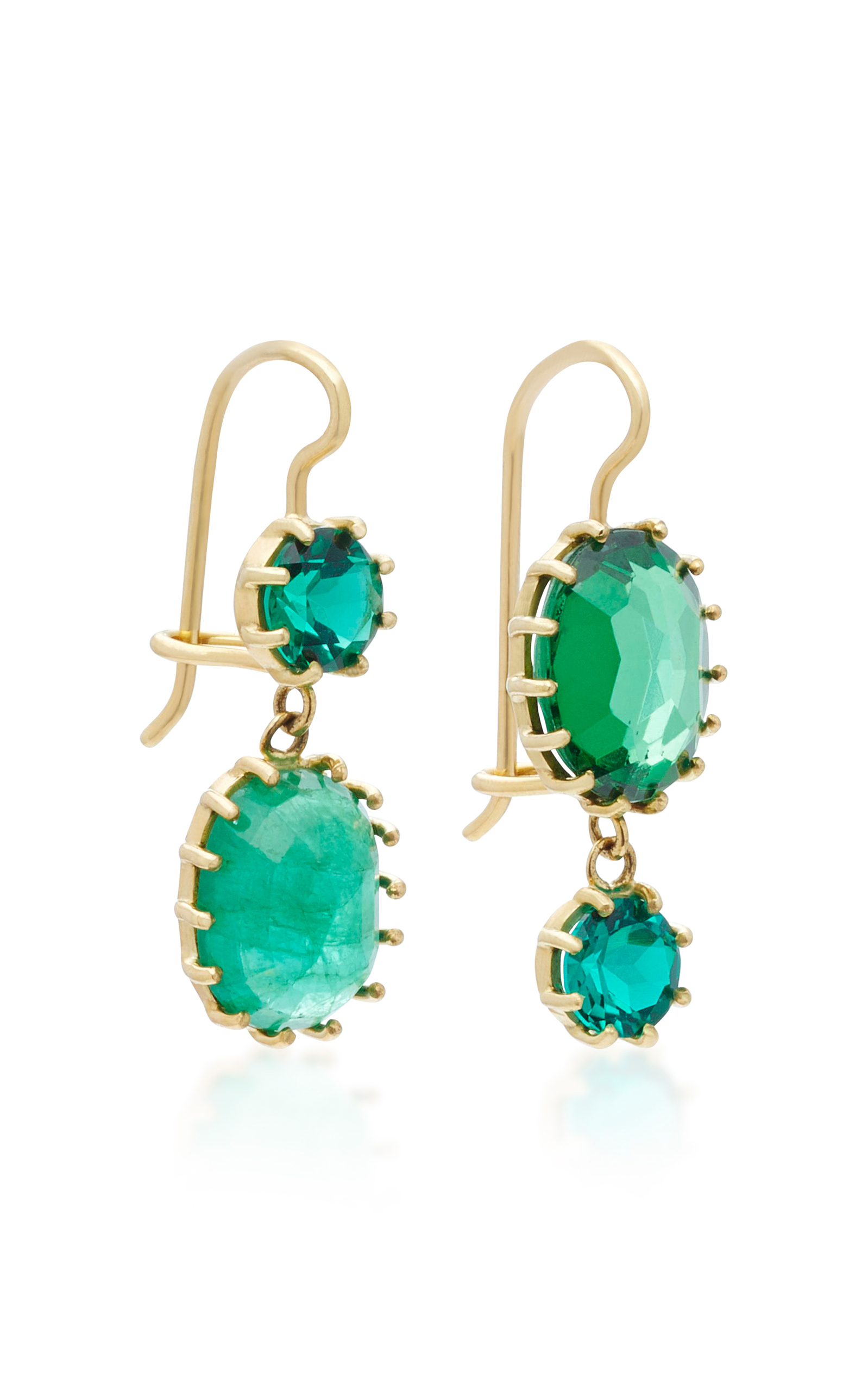 gold emerald and image set gem jewellery diamond earrings pearls yellow albion