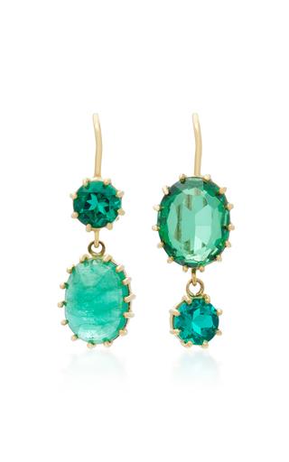 18k Gold Gem Emerald Earrings By Renee Lewis Moda Operandi