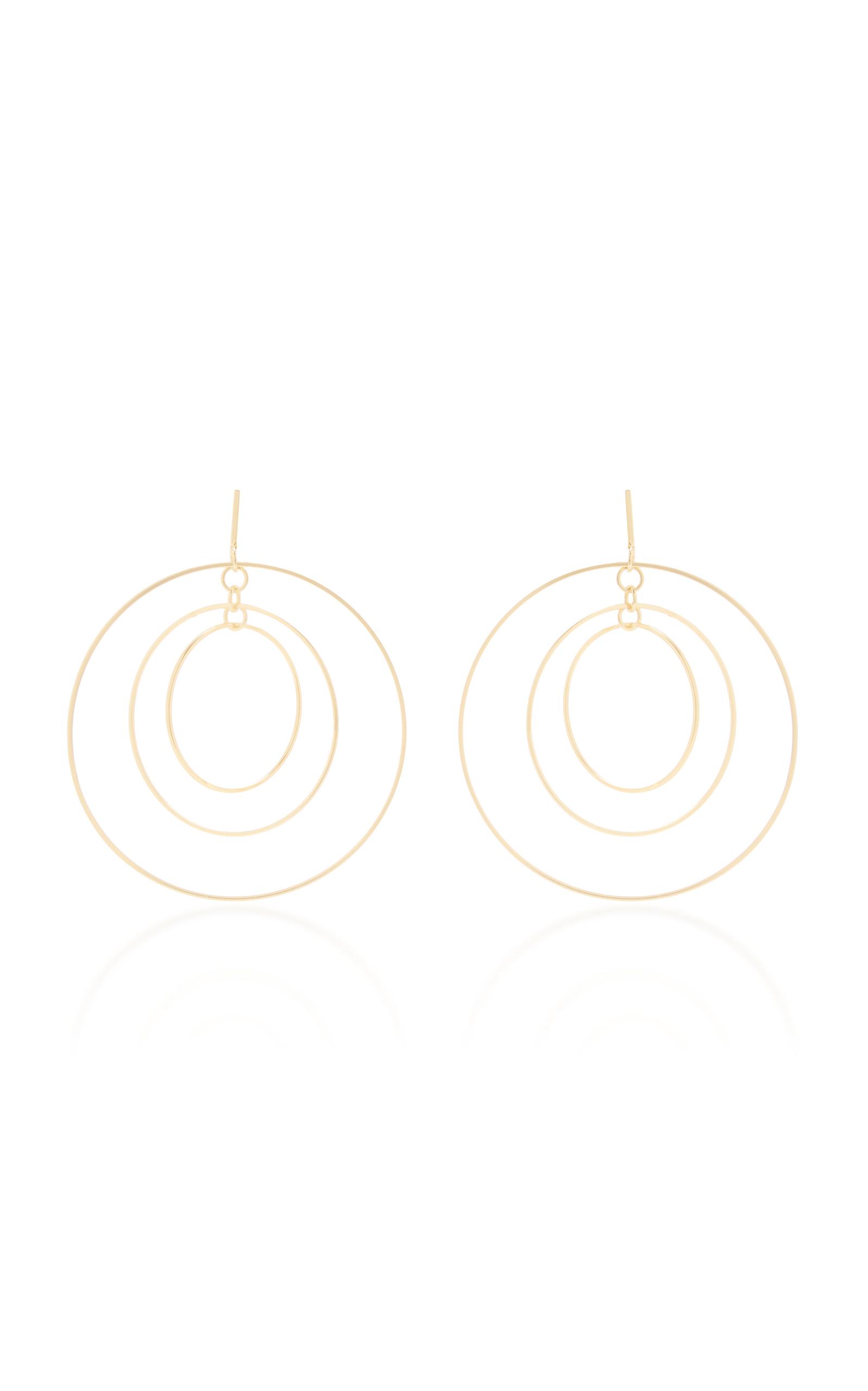 Square Wire Hoop Earring by Tory Burch | Moda Operandi