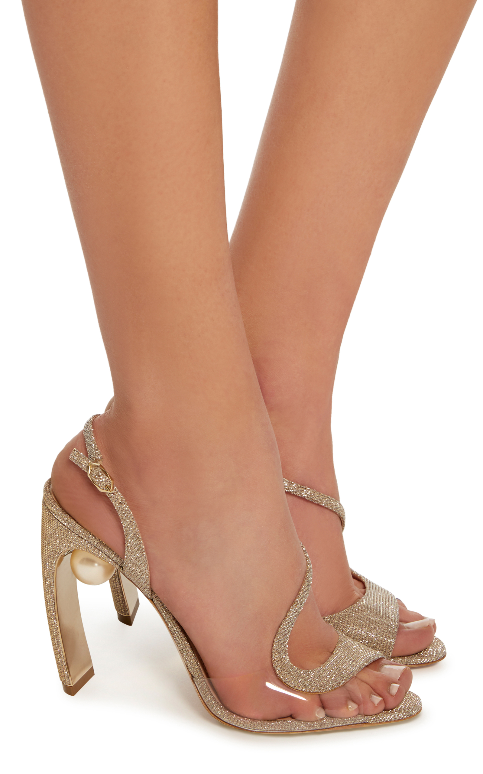 e1ccd7d0eb26 Nicholas KirkwoodMaeva Pearl-Embellished Metallic Sandals. CLOSE. Loading