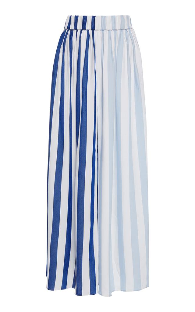 Layla wide-leg striped trousers