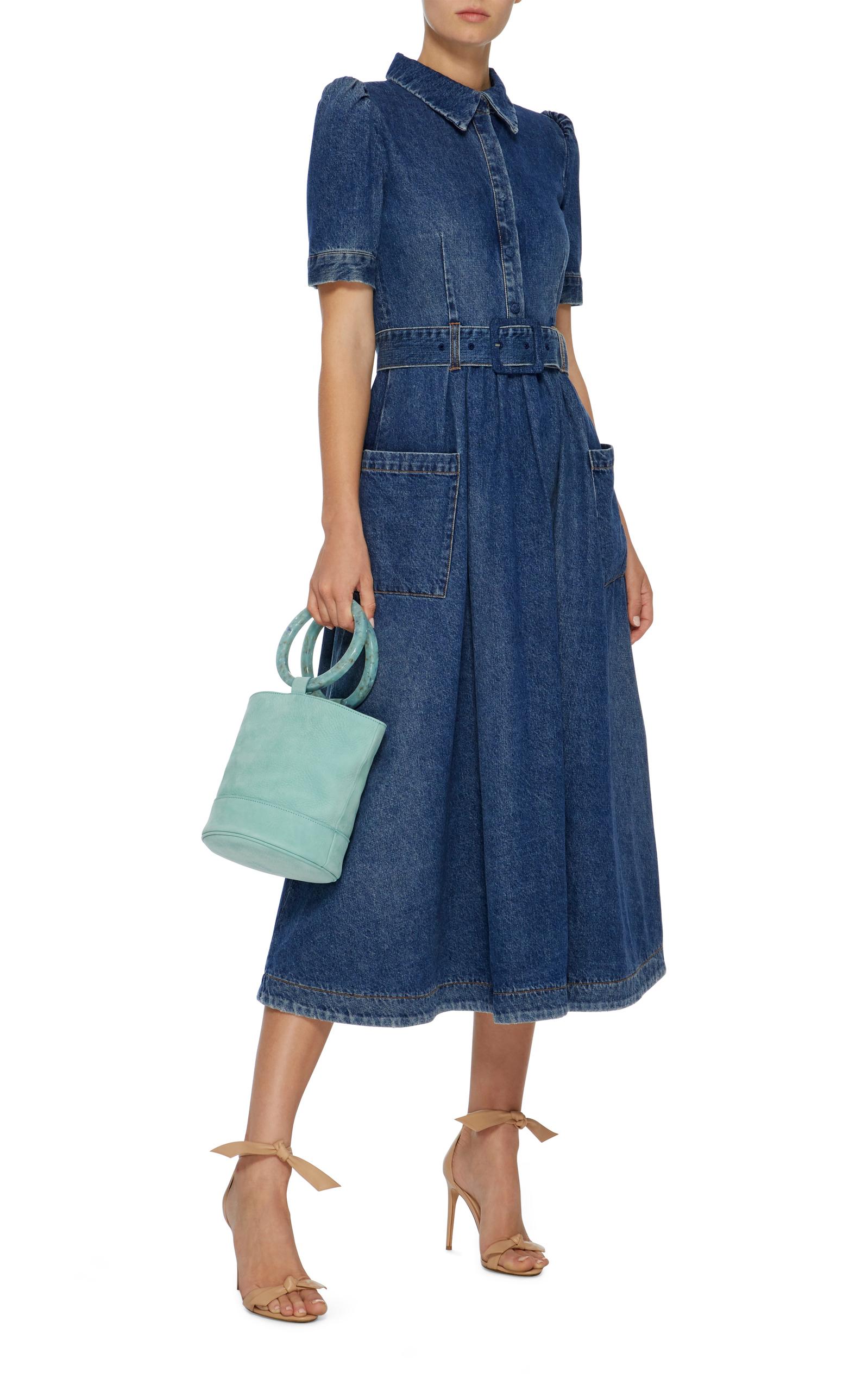 Sleeveless Belted Denim Midi Dress Co uHRaWf