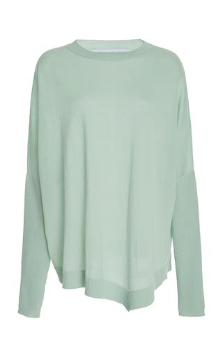 Medium sally lapointe blue lightweight asymmetrical sweater