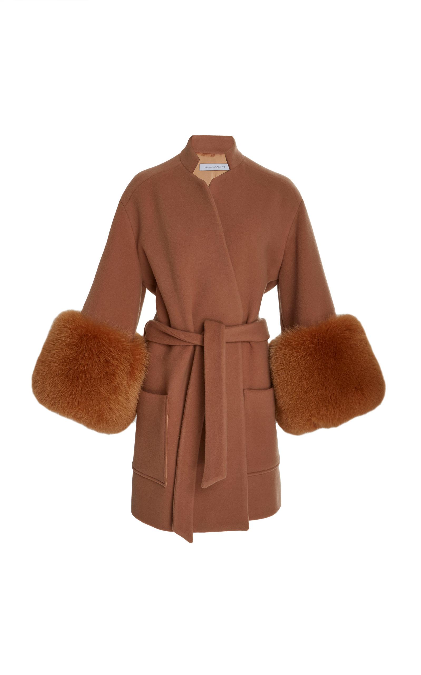 With by Sally Fox LaPointe Coat Moda Fur Kimono Operandi 7xwvOW