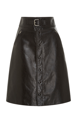 Leather Skirt With Belt Detail by Red Valentino | Moda Operandi