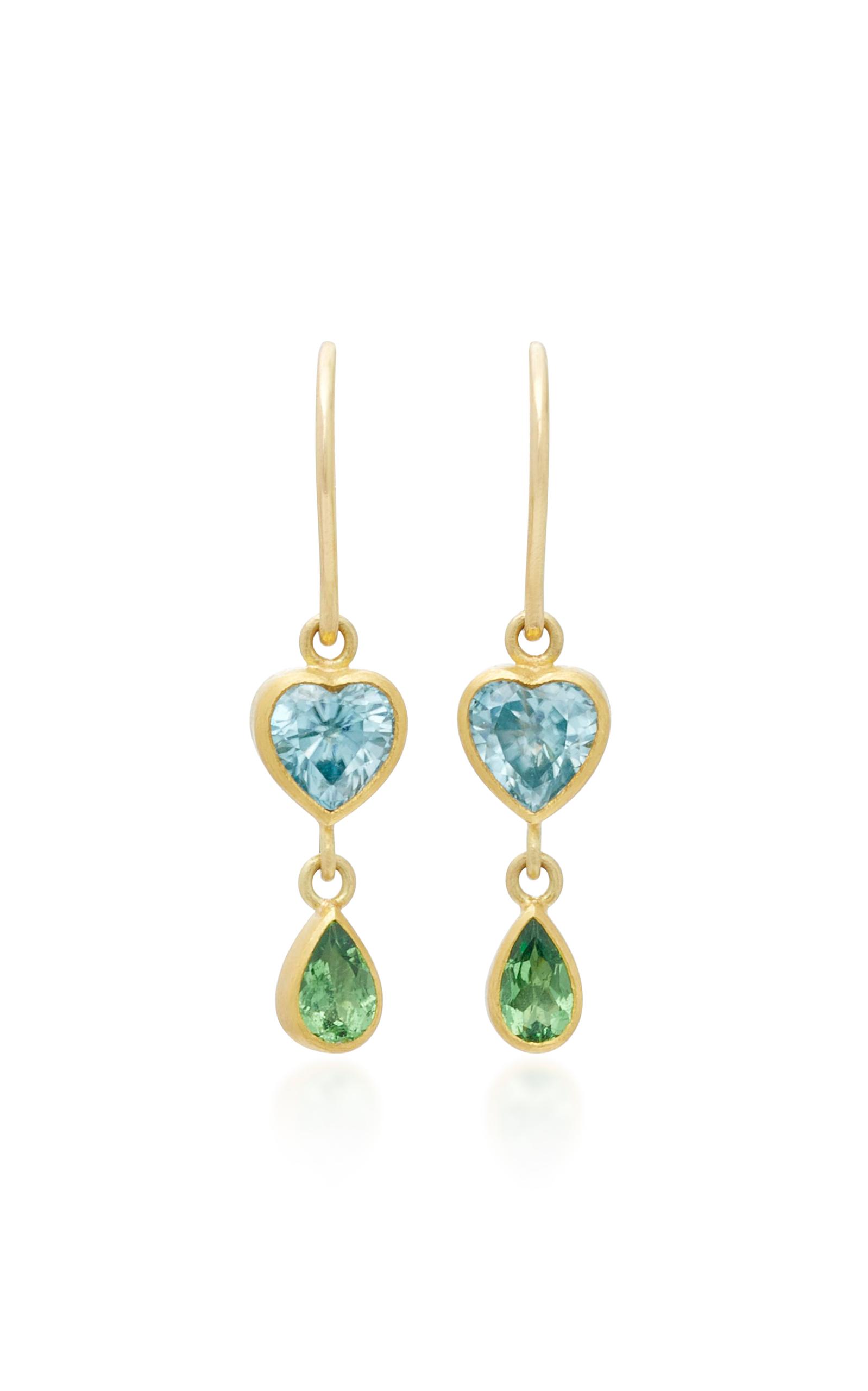 18K Gold Green Paraiba Earrings Mallary Marks vMXlT