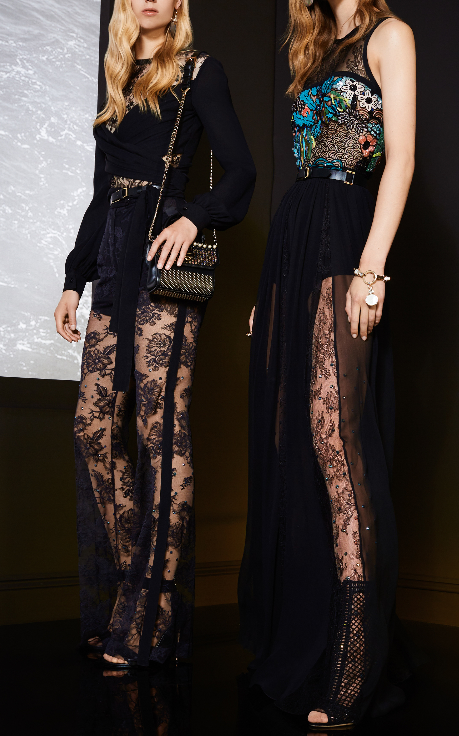 Wrapped Lace Blouse Elie Saab Sale 2018 Clearance Sale Fashion Style Sale Online New Arrival For Sale GrN1Z8