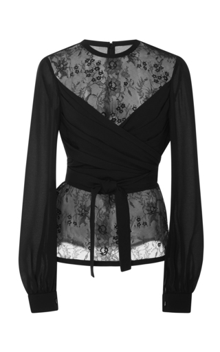 28204123f25d Elie SaabWrapped Lace Blouse