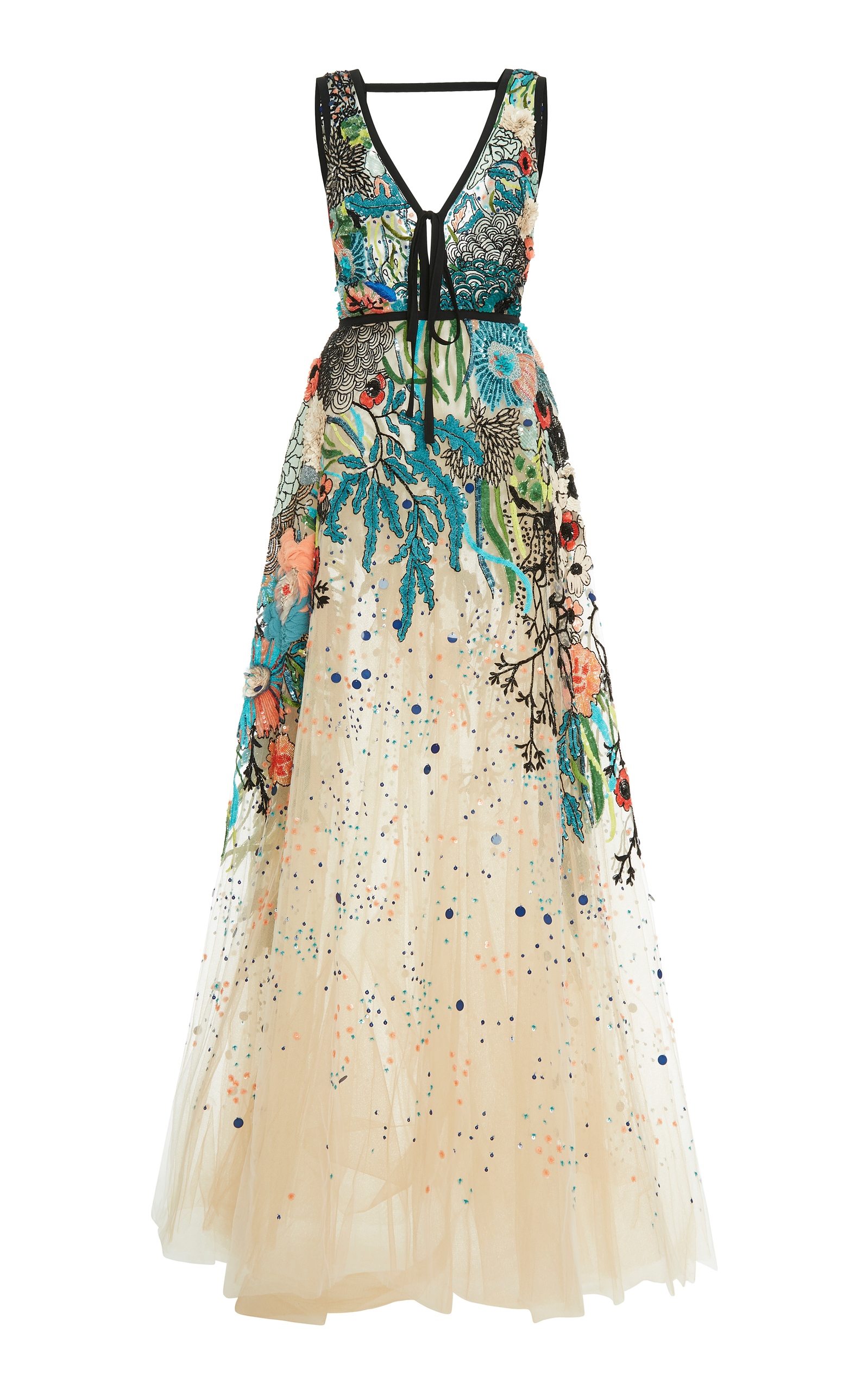 c7ea1dbfb Bead Embroidered Tulle Gown by Elie Saab | Moda Operandi