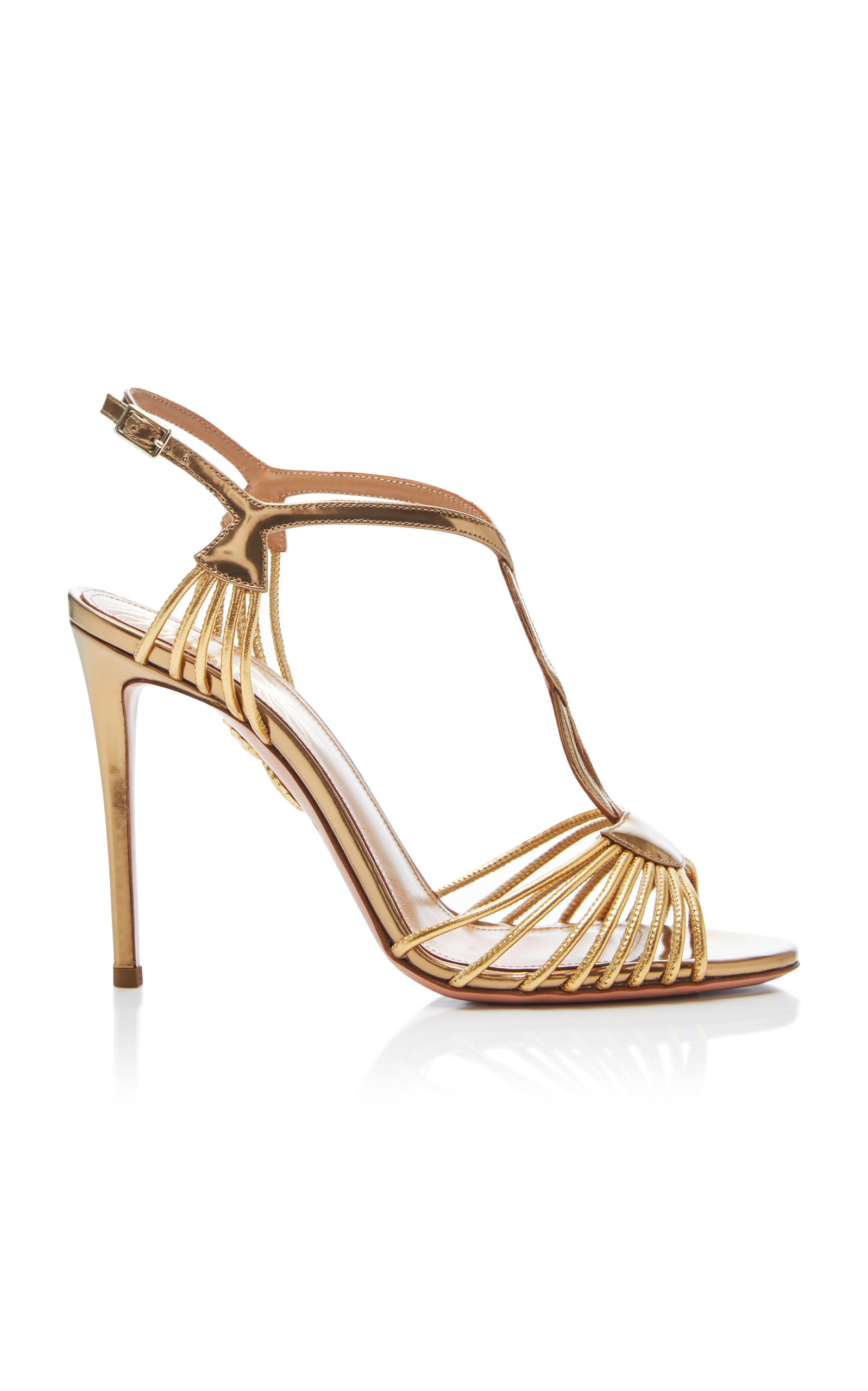 Metallic leather sandals Aquazzura fcXM52GRB