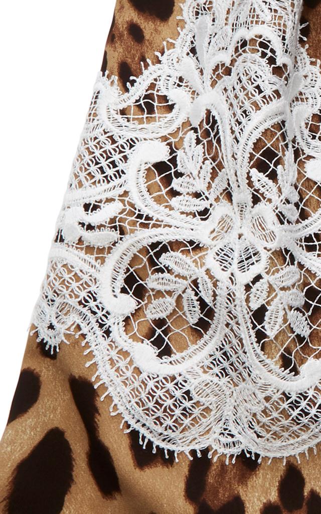Leopard Print Silk Headscarf By Dolce Gabbana Moda Operandi