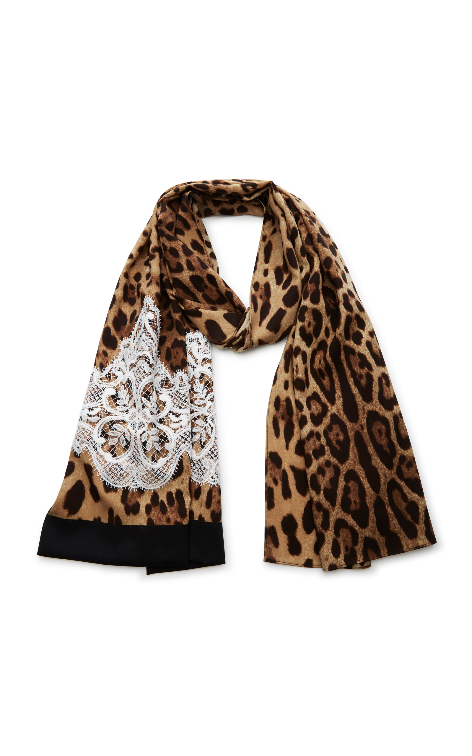floral and tiger print scarf - Multicolour Dolce & Gabbana ZpjZi2