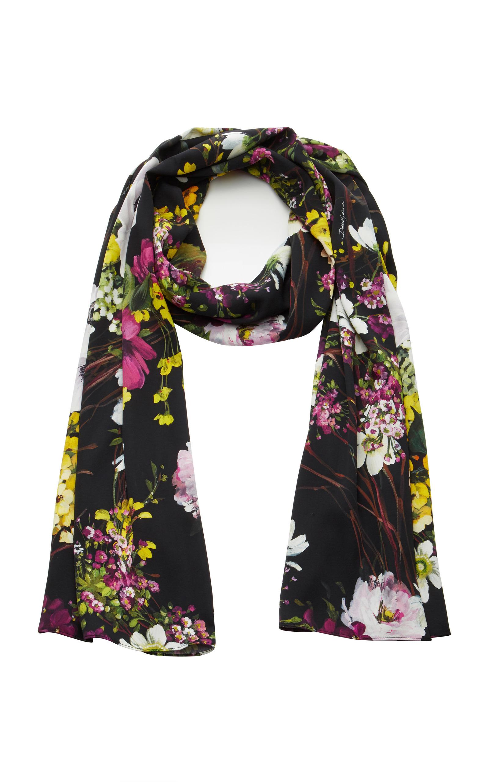 floral print scarf - Black Dolce & Gabbana gt2PyEvn2