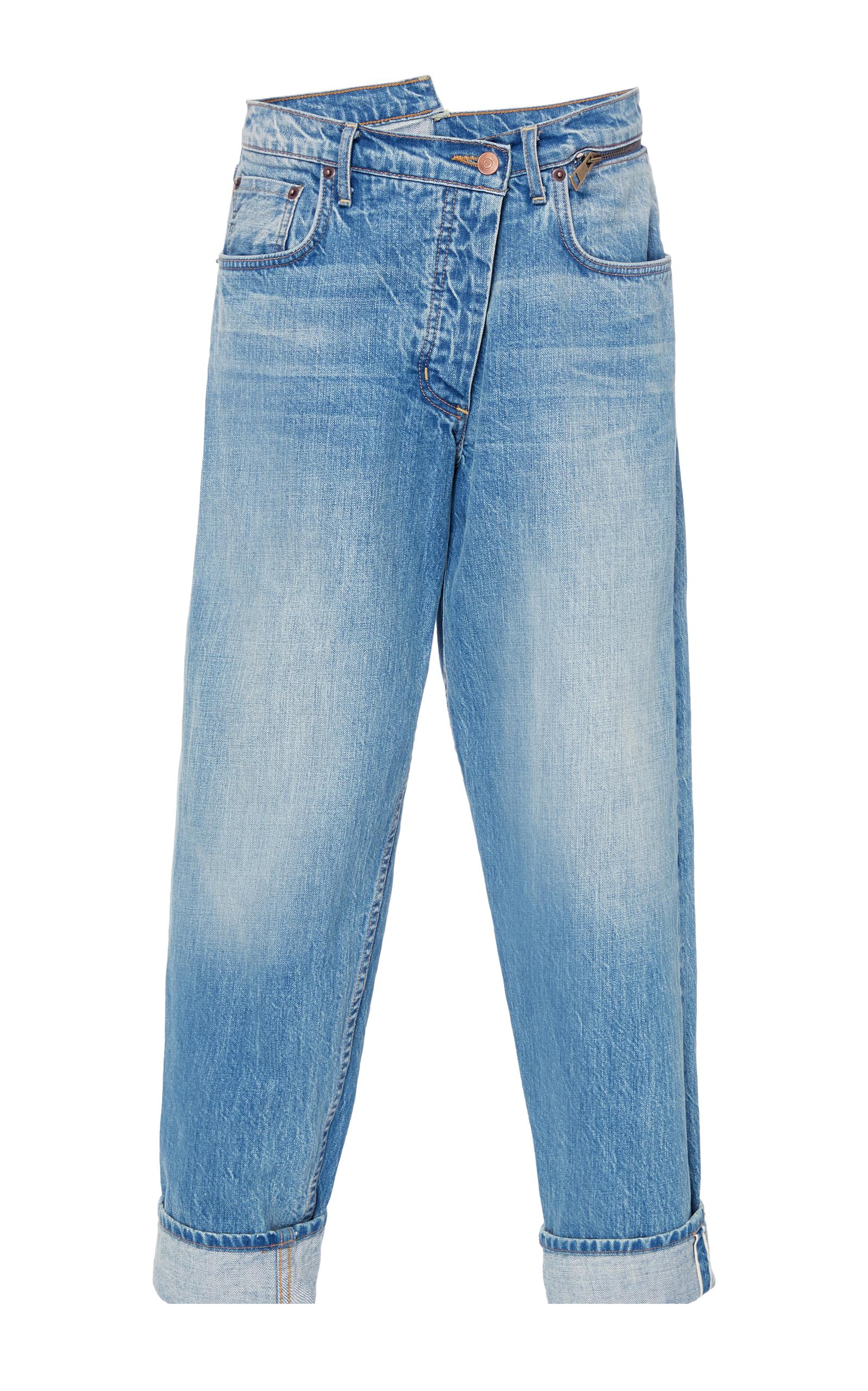 Zip Waist Dad Jeans
