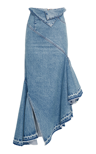 Fold Waist Denim Trumpet Skirt By Monse Moda Operandi