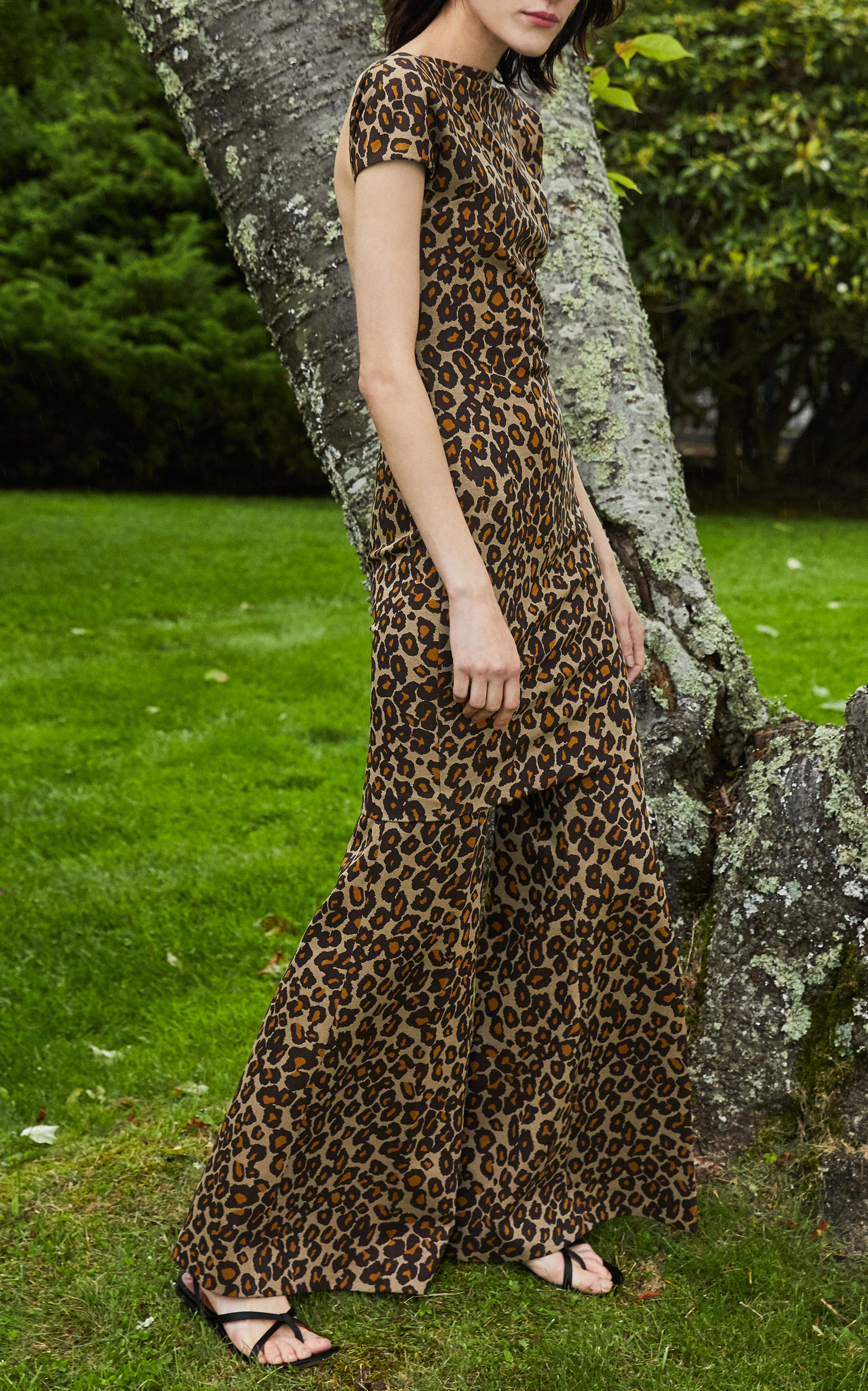 Backless Leopard Print Mini Dress by Rosetta Getty  9e7f71c75