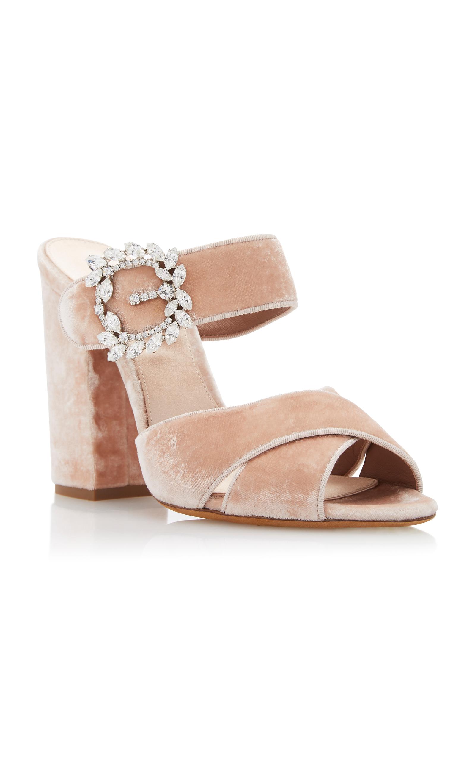 Tabitha Simmons Reyner Embellished Velvet Sandals 1fe1a4yo