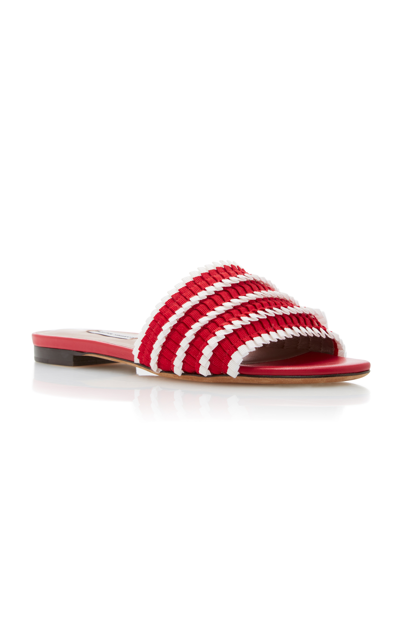 Tabitha Simmons Sprinkles Pleated Slides R8SVDTtI