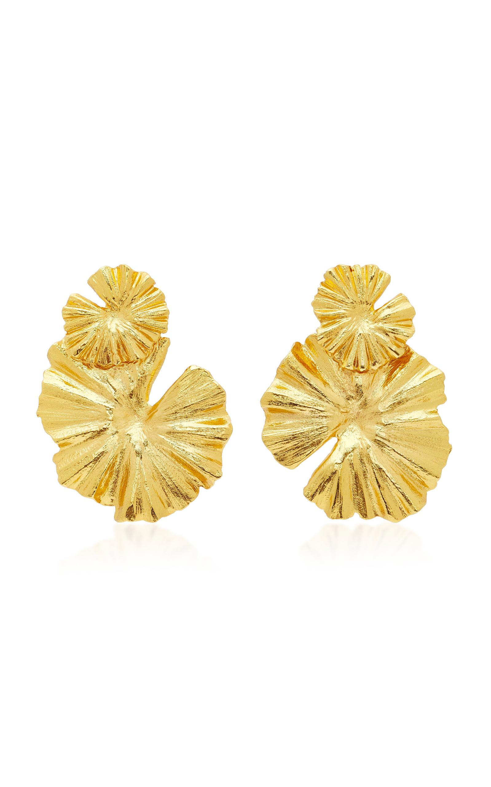 Wildflower Gold-Tone Earrings by Oscar de la Renta  5ebb06e318