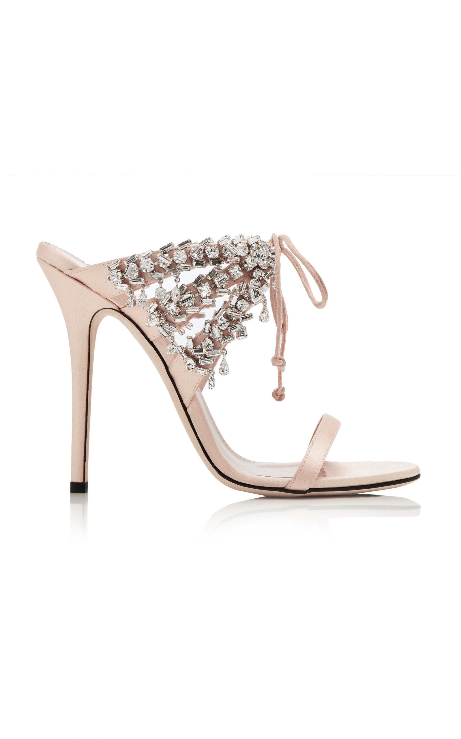 Giuseppe Zanotti Satin mule with crystals MADELYN JgRblS