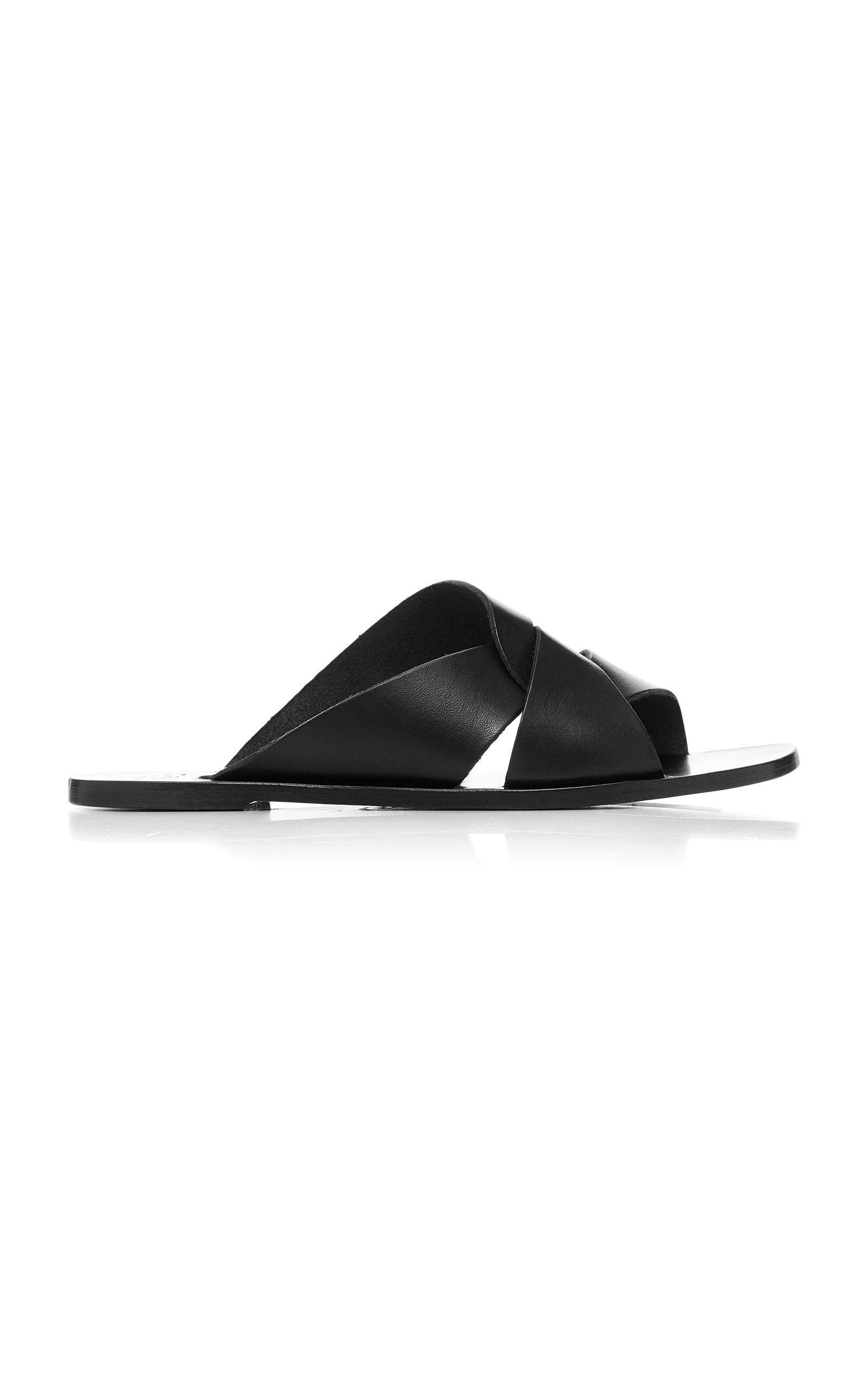original for sale free shipping affordable Atp Atelier black allai leather sandals clearance newest discount cheap Ho206Qt0