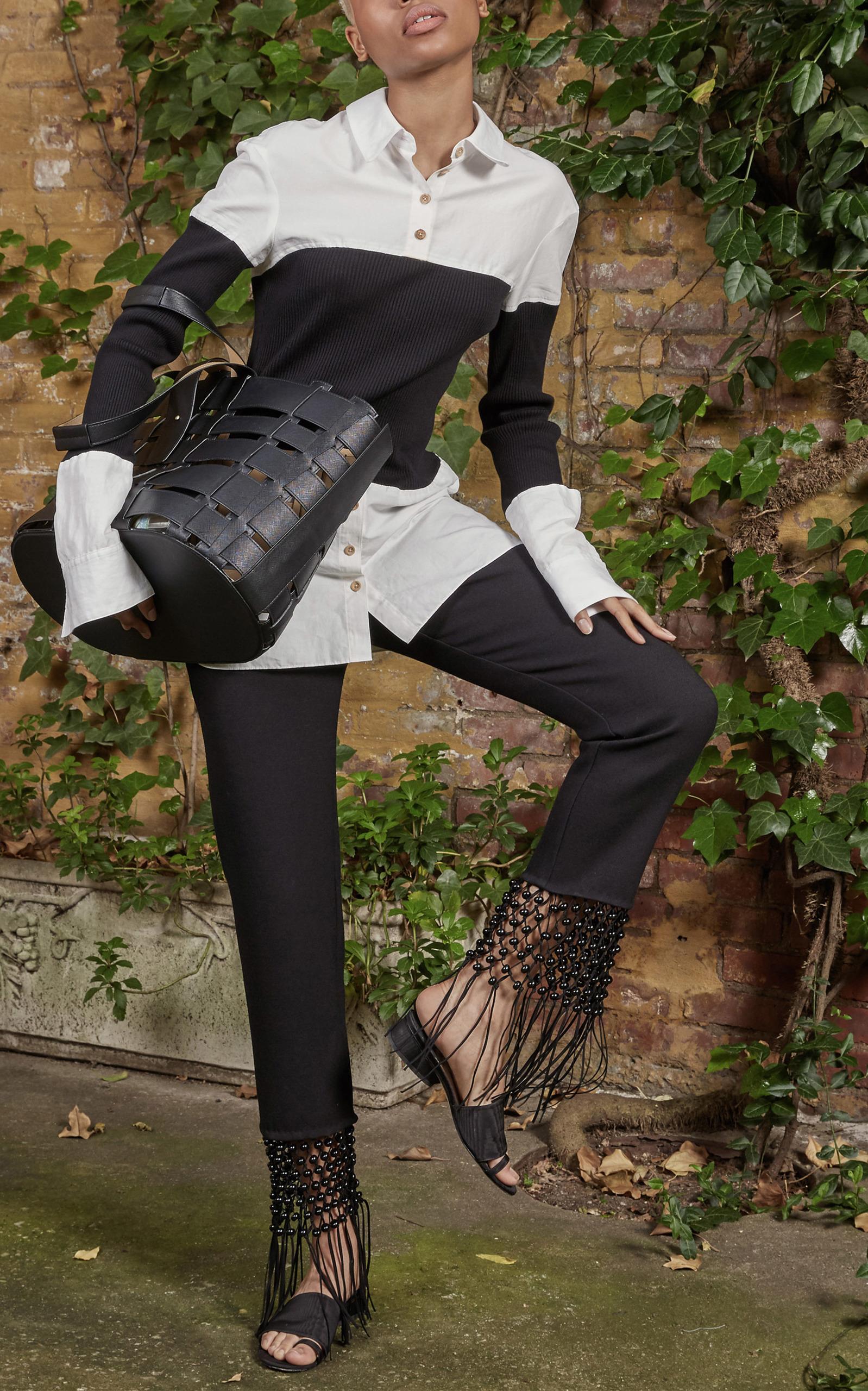 Vente Confortable Prix Le Moins Cher Rabais Long Sleeve Shirt With Ribbed BodiceRosie Assoulin Le Meilleur Magasin Pour Obtenir La Sortie En Vogue TY7V64wBm