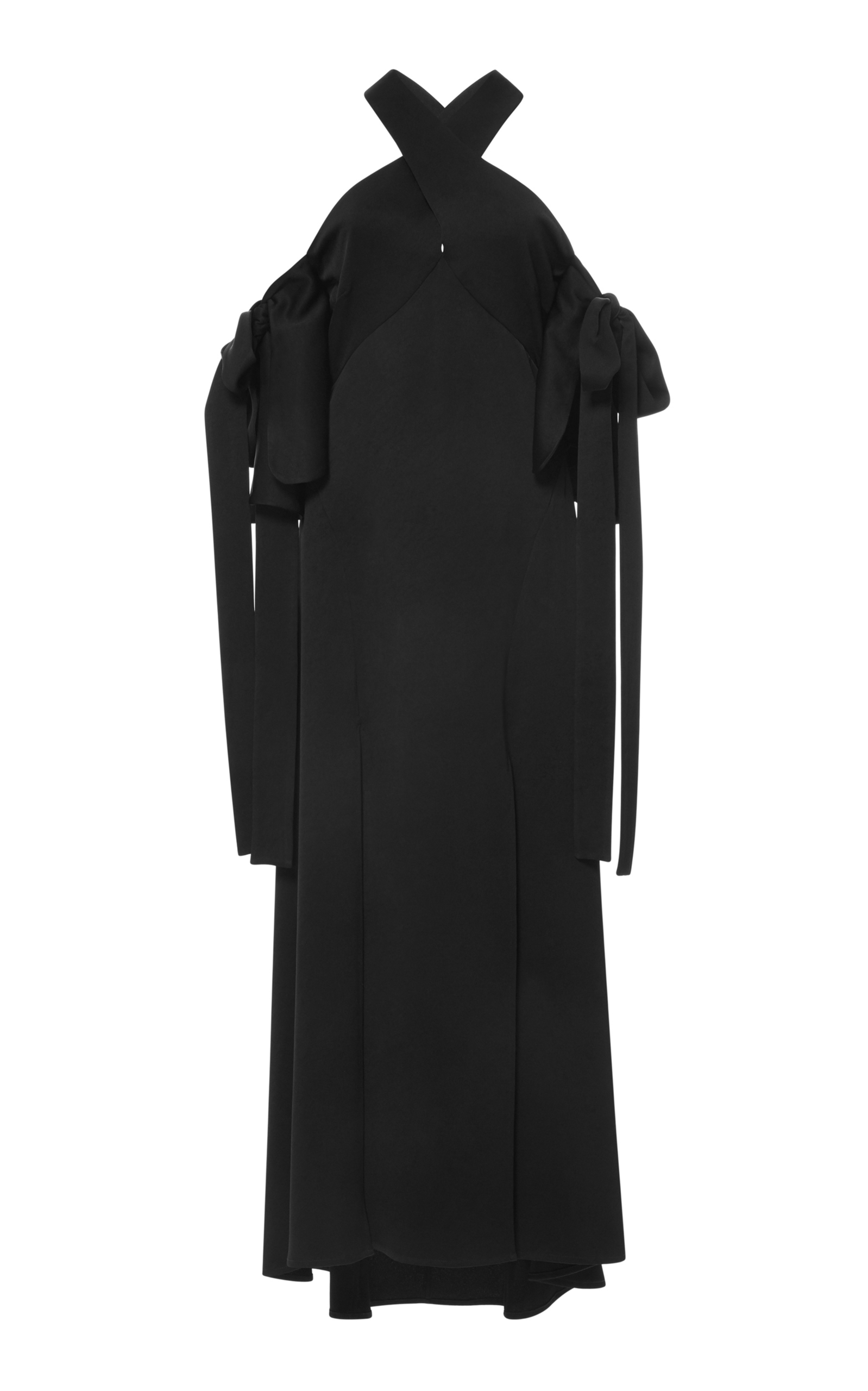 Purchase Ellery Woman Lace-up Crepe Midi Dress Black Size 12 Ellery Clearance Enjoy Clearance Store Online Manchester For Sale Sale Finishline 0WPMobL