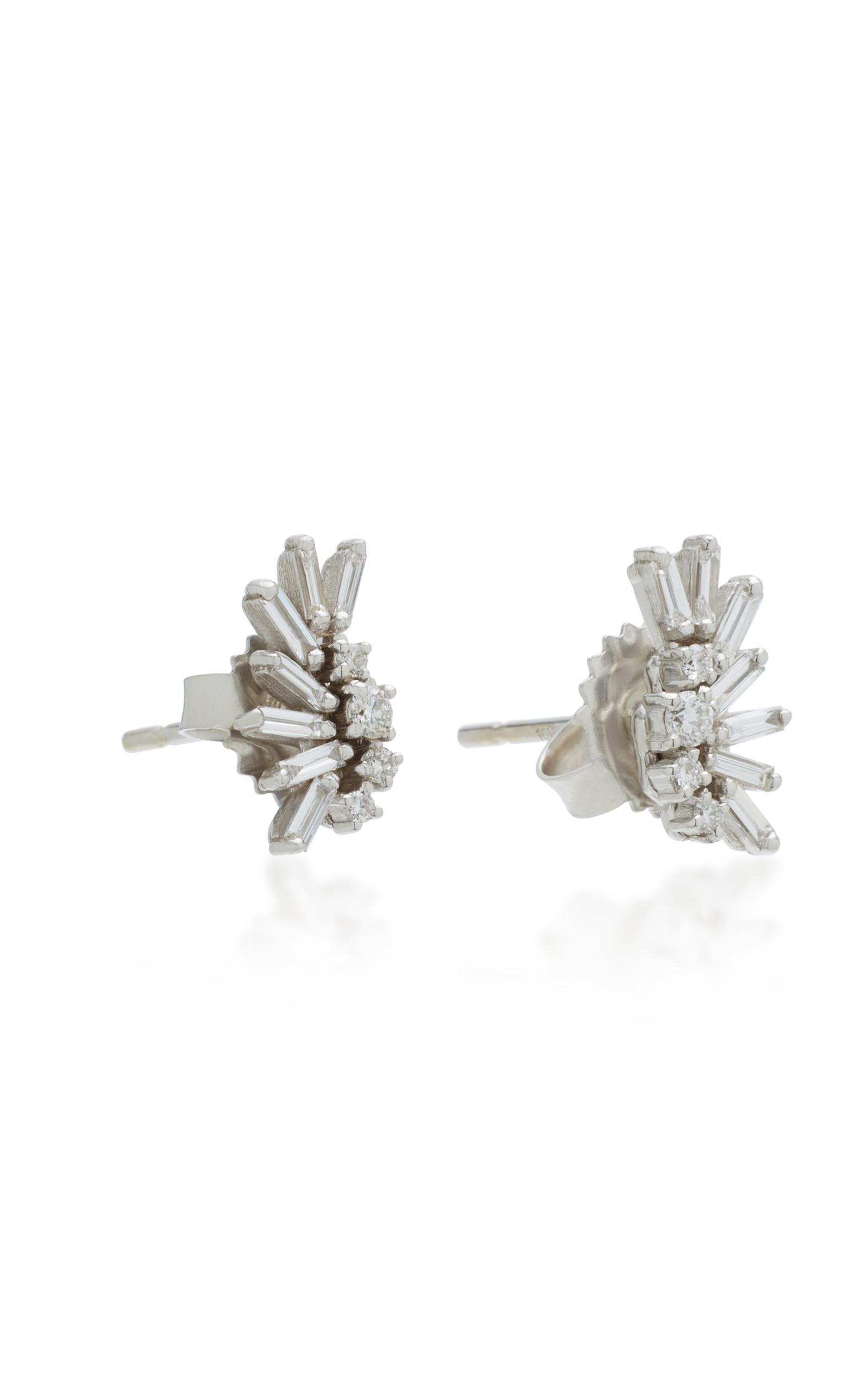 18K White Gold Diamond Earrings Suzanne Kalan spQEl4