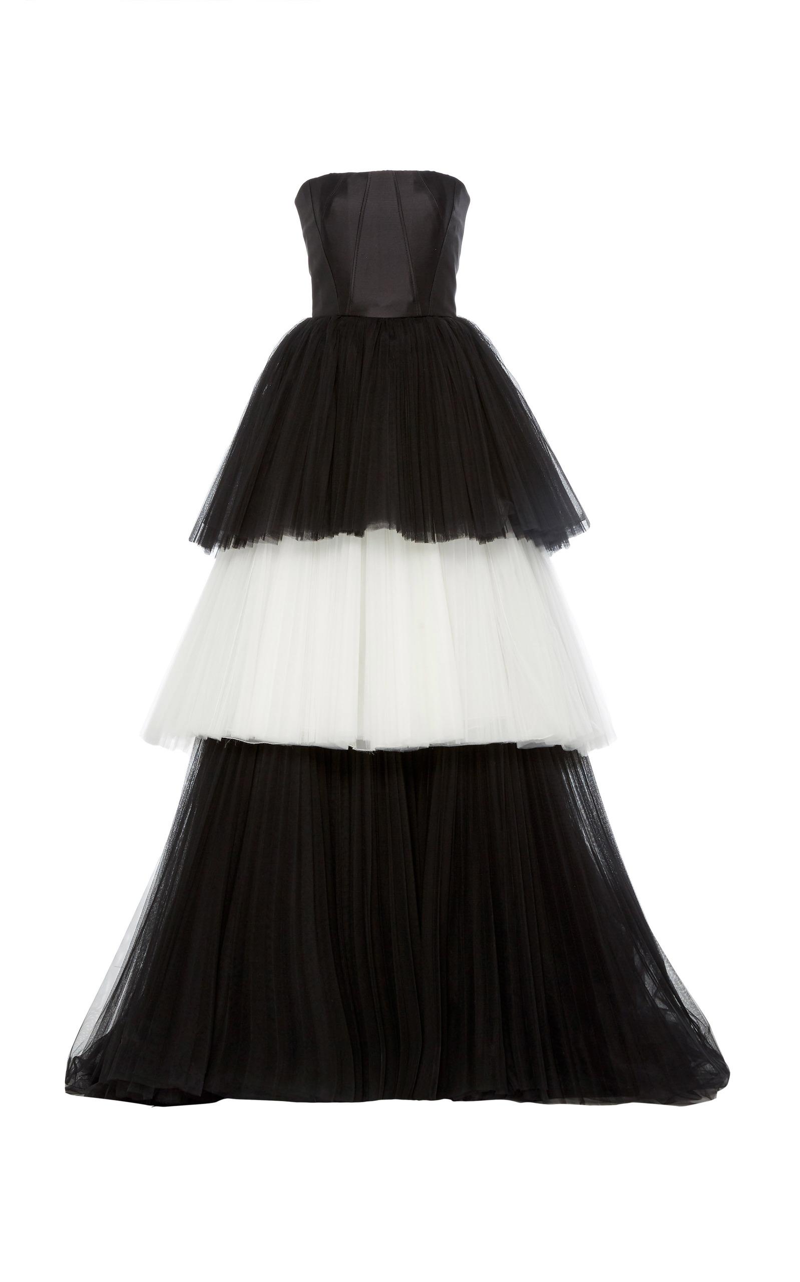 77f460ae64cd Mikado Bustier Tulle Ball Gown by Carolina Herrera   Moda Operandi