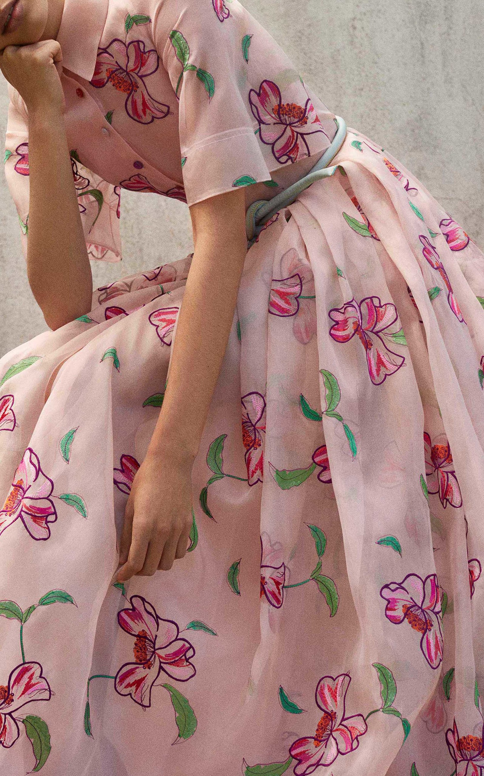 bc78b922af Floral Embroidered Organza Gown by Carolina Herrera | Moda Operandi