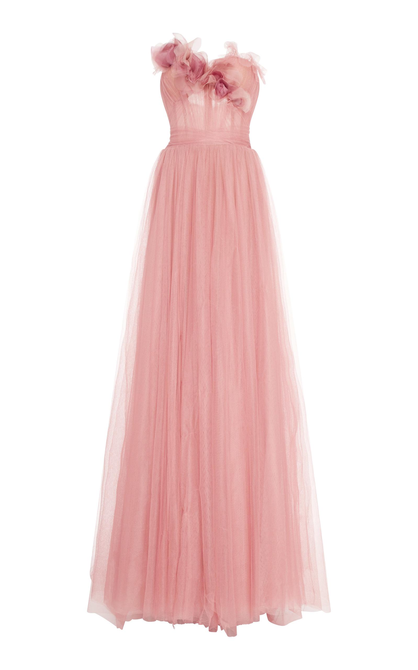 9973d27917 Sweetheart Flower Tulle Gown by Marchesa   Moda Operandi