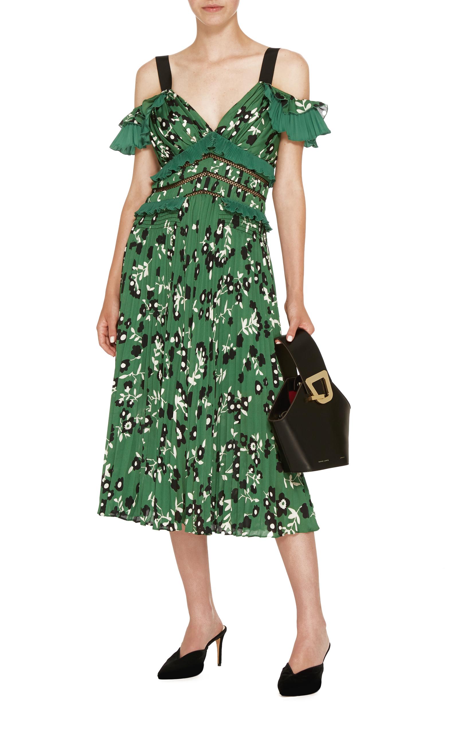 ab16af0c1f264 Cold Shoulder Floral Printed Midi Dress by Self Portrait | Moda Operandi