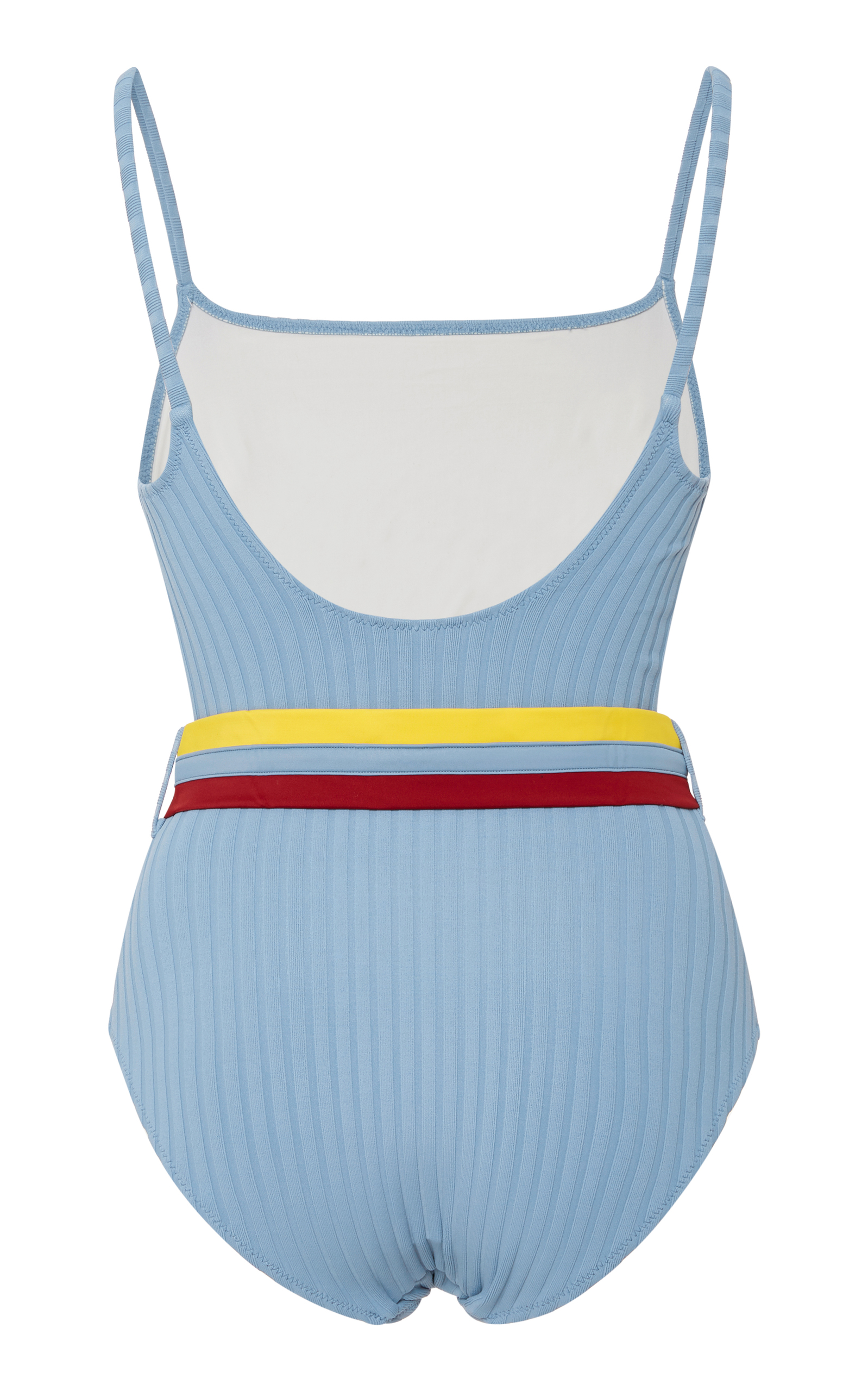 0cae7bc2e9 Solid   StripedBelted Ribbed One Piece Swimsuit. CLOSE. Loading. Loading.  Loading