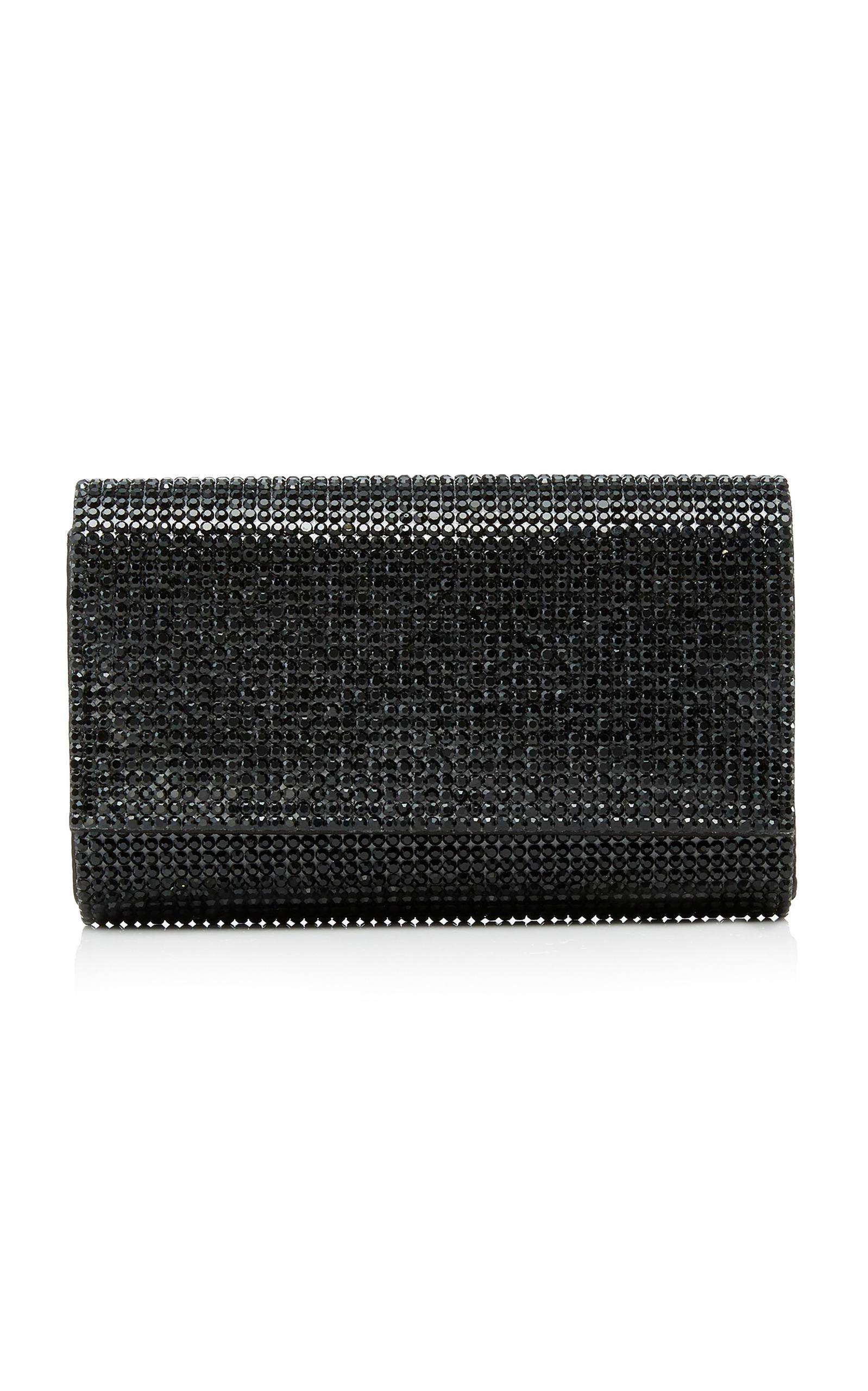 47db1c8e33304 Judith Leiber Fizzy Crystal-Embellished Clutch In Black