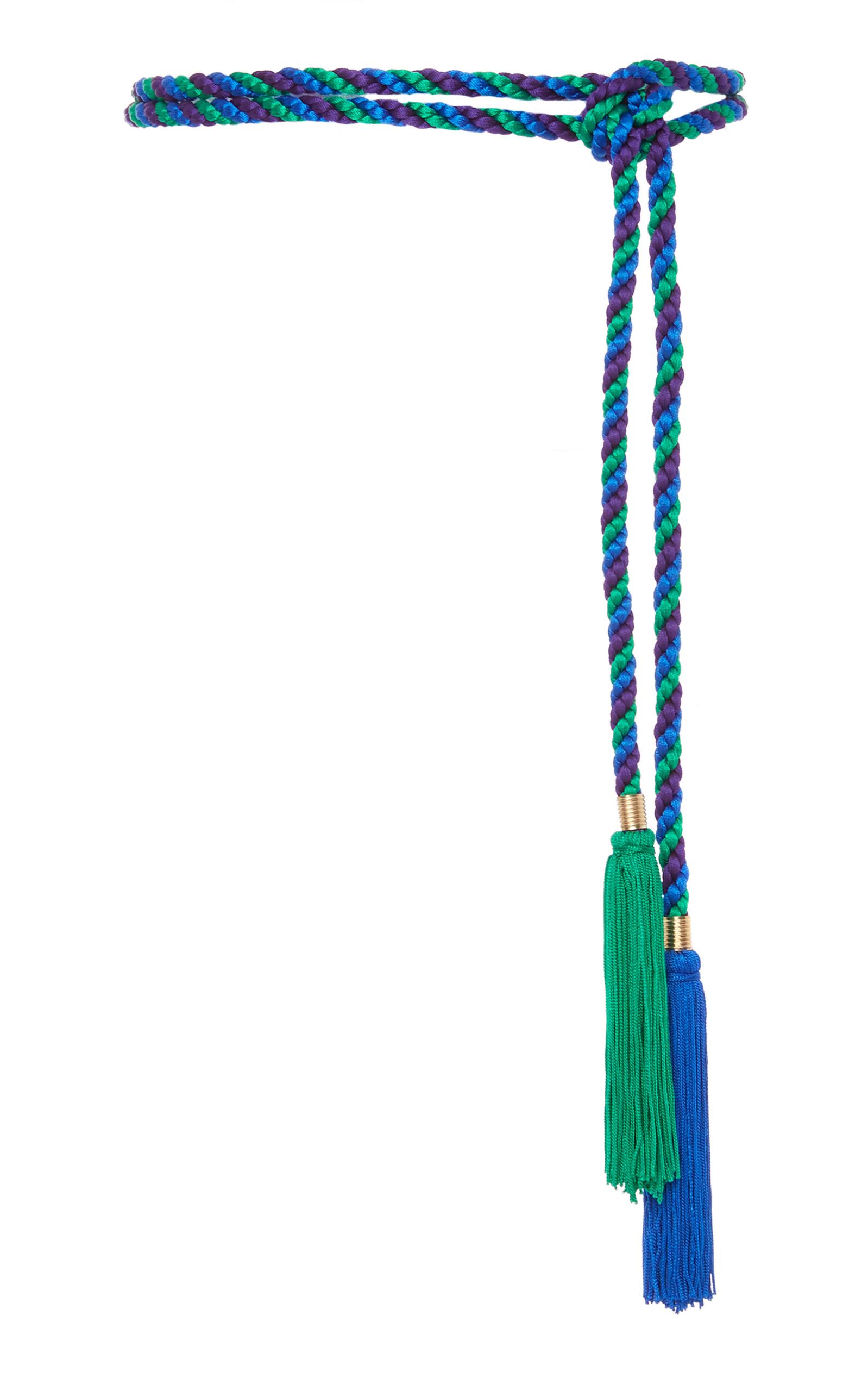 Di en cuerda Cinturón Lorenzo azul bicolor borlas Filosofía Serafini con de HdwznAzq