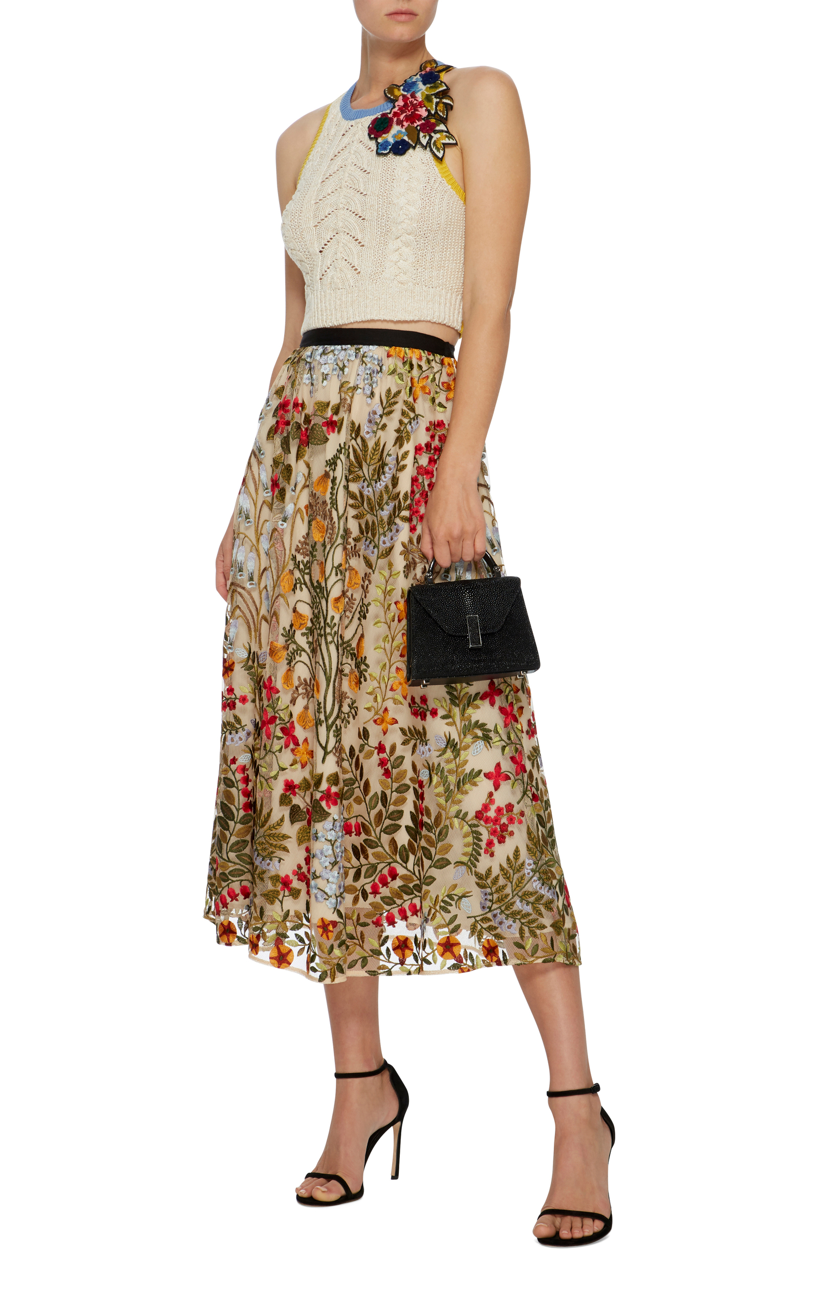 Best Store To Get Floral-Appliquéd Cropped Top Red Valentino Discounts Sale Online Best Prices Sale Online For Sale Footlocker 1BZd42wZX8