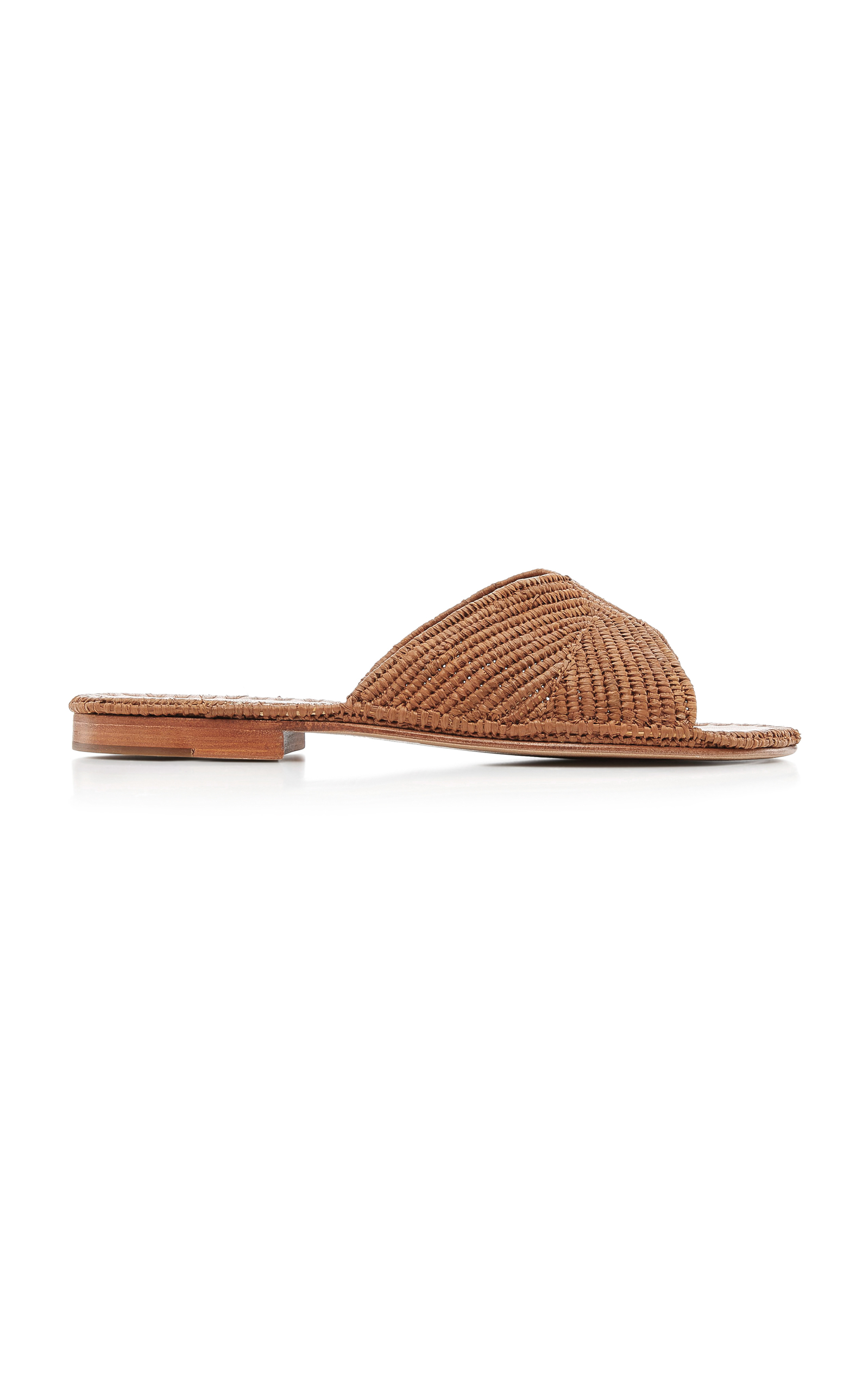 CARRIE FORBES Salon Sandals With Raffia in Brown
