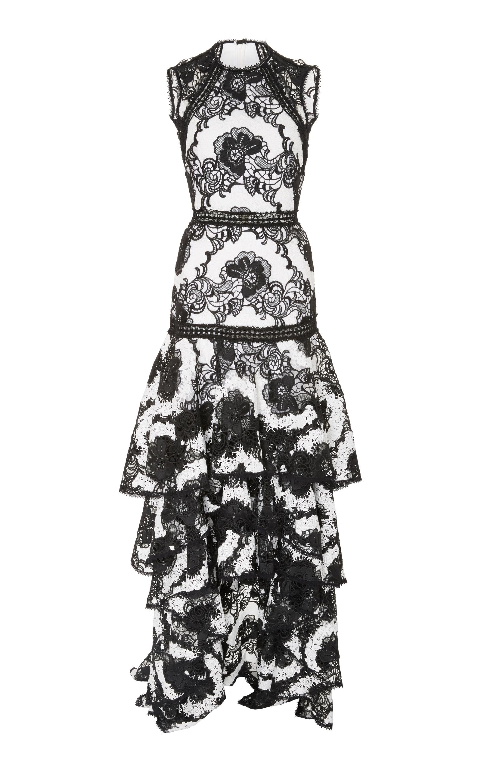 9c646925ea34 Rita Ruffled Lace Dress by Alexis | Moda Operandi