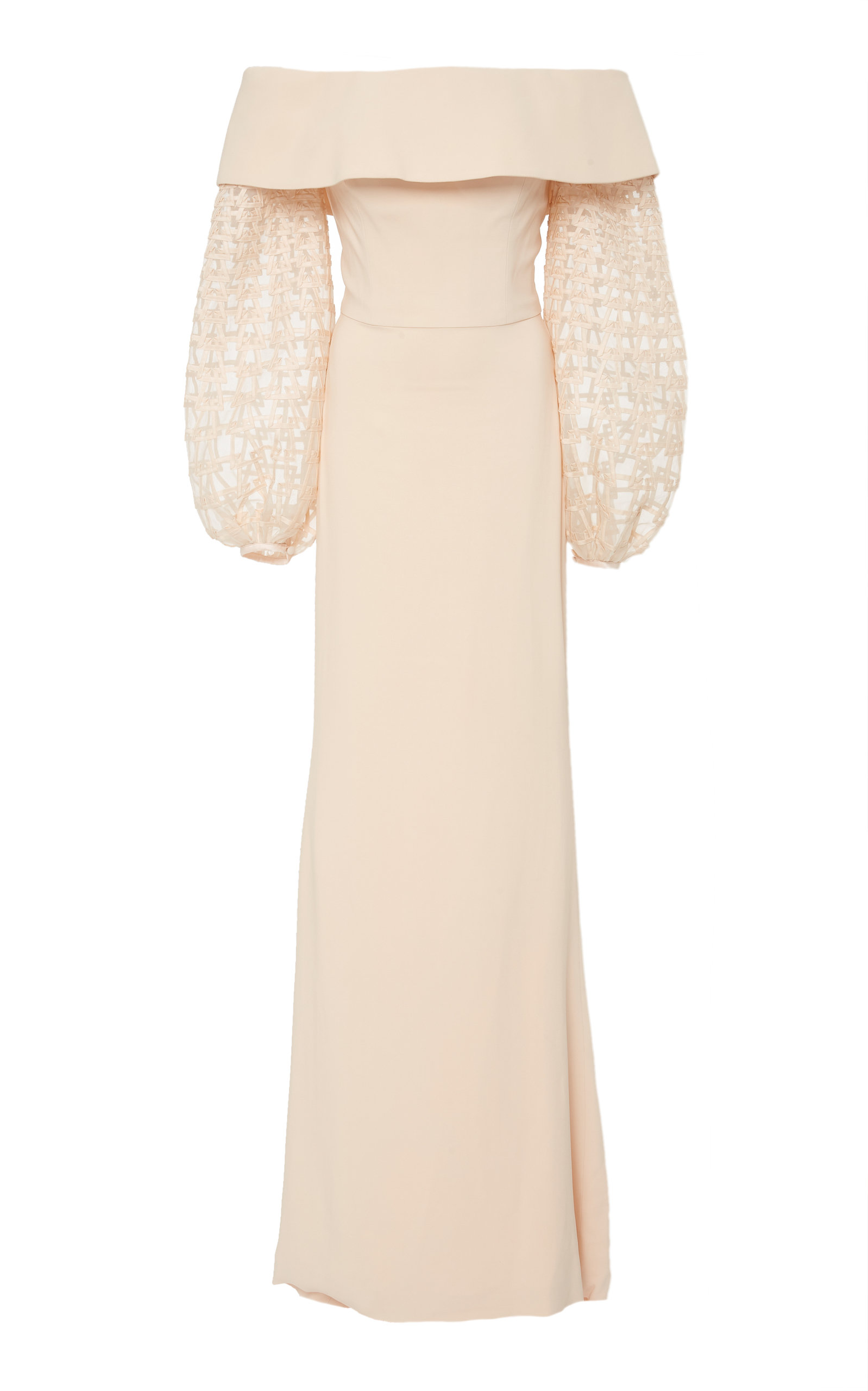 ELIZABETH KENNEDY M'O EXCLUSIVE OFF THE SHOULDER BALLOON SLEEVE GOWN