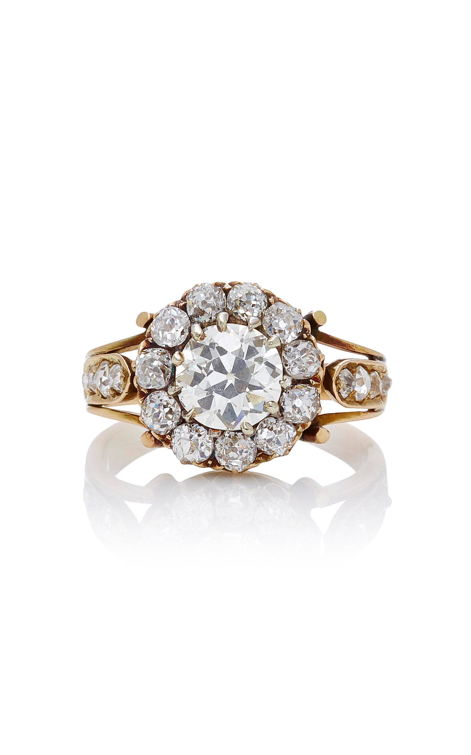 antique ring cluster cut by rose grace jewels diamond